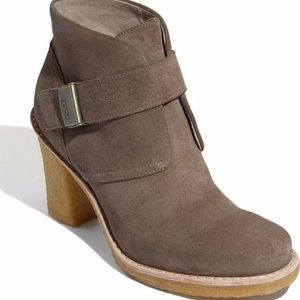 UGG Brienne Tan Suede Leather Ankle Boots